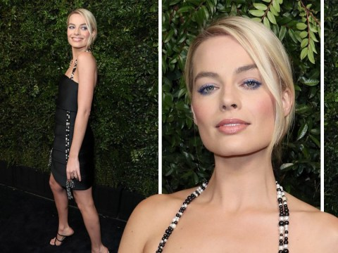 Margot Robbie looks stunning at pre-Oscars party as she prepares to attend the ceremony for the first time as a nominee