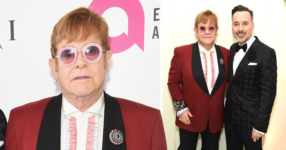 Elton John cuts red carpet appearance at his own Oscars party short following 'minor surgery' on his knee
