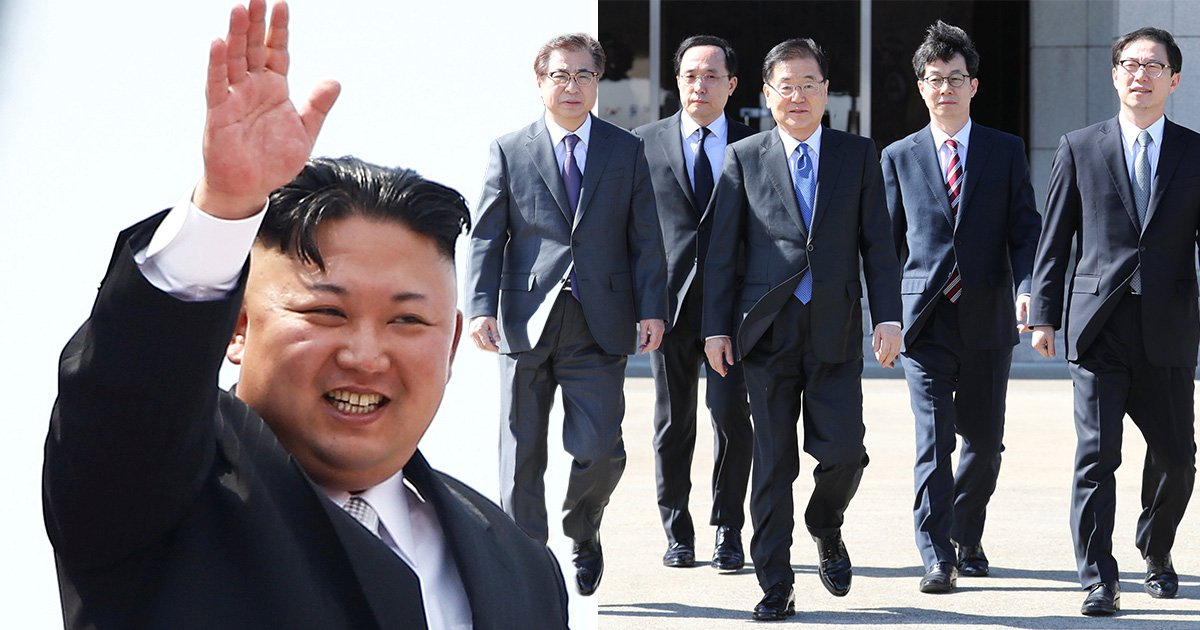 South Korean officials arrive in North Korea to meet Kim Jong Un for historic talks