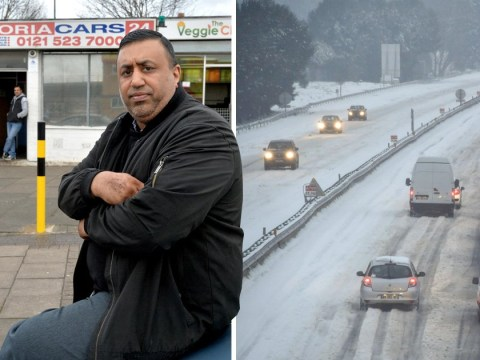 Hero minicab driver took stranded couple 120-miles home in the snow