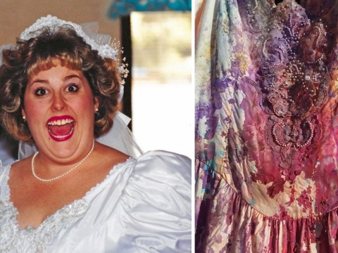 Paint bomb your wedding dress if you're getting a divorce after 25 years of marriage
