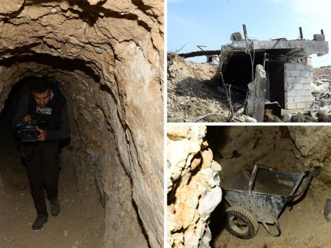 Inside underground tunnels used by PKK fighters in Syria
