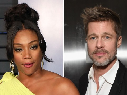 Brad Pitt told Tiffany Haddish if they're both still single in a year he'll take her on a date