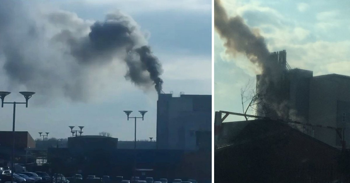 Wards evacuated after huge fire breaks out at hospital in Coventry