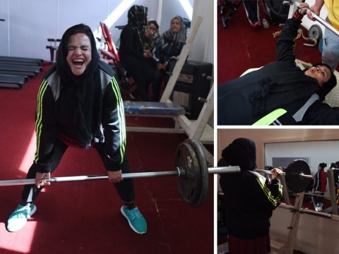 Incredible images of kick-ass female powerlifters transforming the sport in Afghanistan