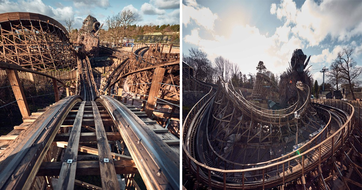 Alton Towers' wood and fire rollercoaster is here and it's a beauty