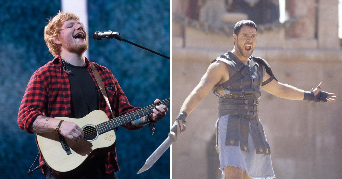 Ed Sheeran wants Russell Crowe's sword