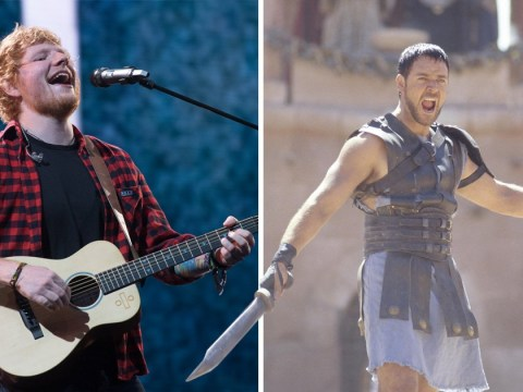 Ed Sheeran wants to buy Russell Crowe's Gladiators sword for '£2000' as actor holds 'divorce auction'