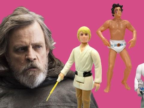 Mark Hamill showcases the hilarious evolution of the Luke Skywalker action figure