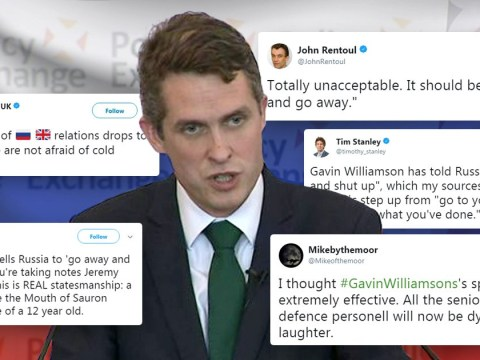Best responses to Gavin Williamson telling Russia to 'go away and shut up'