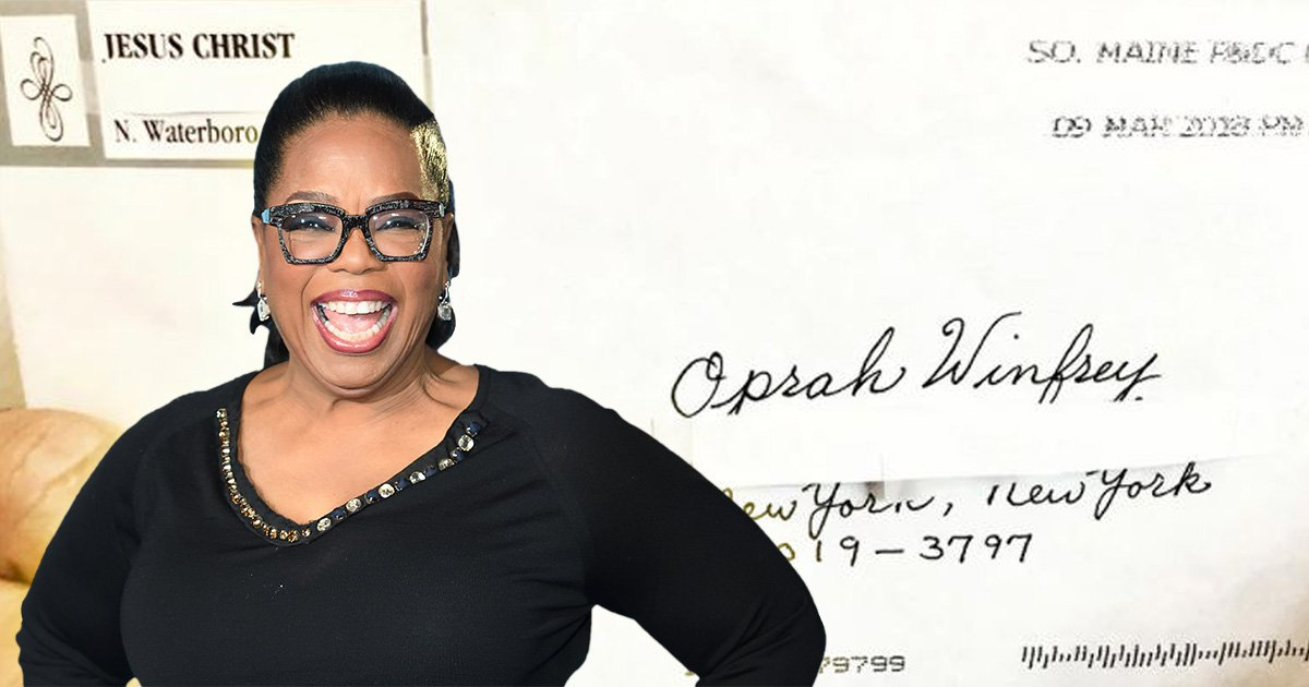 Oprah Winfrey's prayers are answered as she receives letter from Jesus Christ
