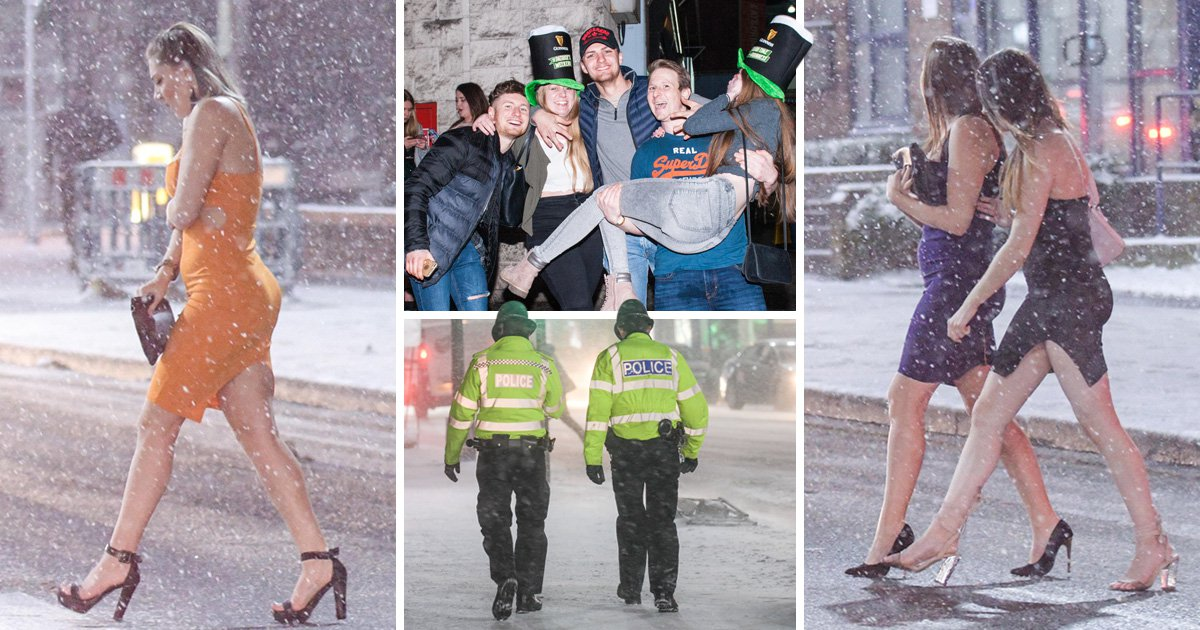 A bit of snow didn't stop anyone's St Patrick's Day celebrations