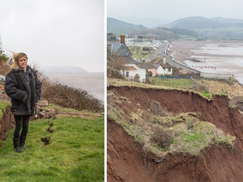 Family fears home will fall into the sea as severe weather batters UK coastlines