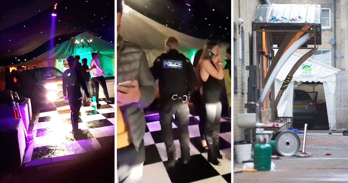 Clubbers injured and in 'complete panic' after man drove car into nightclub