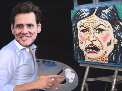 Jim Carrey can paint and his portrait of Sarah Huckabee Sanders has terrified the Internet