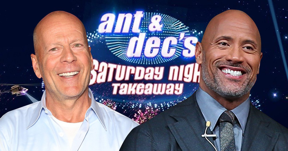 The Rock and Bruce Willis to join Declan Donnelly as he flies solo for Saturday Night Takeaway?