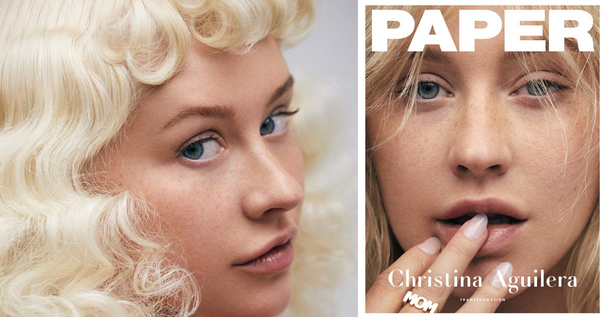 Christina Aguilera goes make-up free on cover of Paper – and we are obsessed
