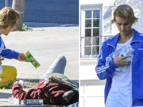 Justin Bieber spotted spreading goodwill as he shares food with the homeless amid Selena Gomez 'split'