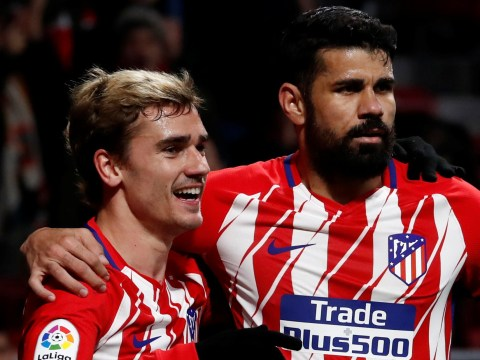 Manchester United transfer target Antoine Griezmann is staying put, says Diego Costa