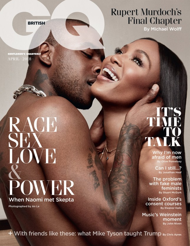 Naomi and Skepta GQ cover (Picture: GQ) Link to: http://www.gq-magazine.co.uk/article/naomi-campbell-skepta-gq-cover