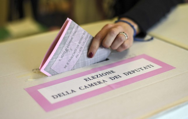 A polling station in Naples, Italy, which experienced large queues of voters. Featuring: atmosphere Where: Naples, Campania, Italy When: 04 Mar 2018 Credit: IPA/WENN.com **Only available for publication in UK, USA, Germany, Austria, Switzerland**