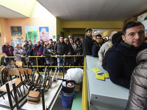 Exit polls point to hung parliament in Italian elections