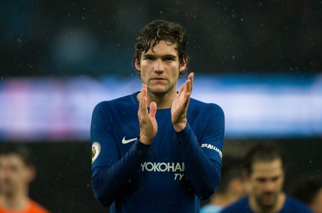 epa06579754 Chelsea???s Marcos Alonso reacts after the English Premier League soccer match between Manchester City and Chelsea FC held at Etihad stadium, Manchester, Britain, 04 March 2018. EPA/PETER POWELL EDITORIAL USE ONLY. No use with unauthorized audio, video, data, fixture lists, club/league logos or 'live' services. Online in-match use limited to 75 images, no video emulation. No use in betting, games or single club/league/player publications.