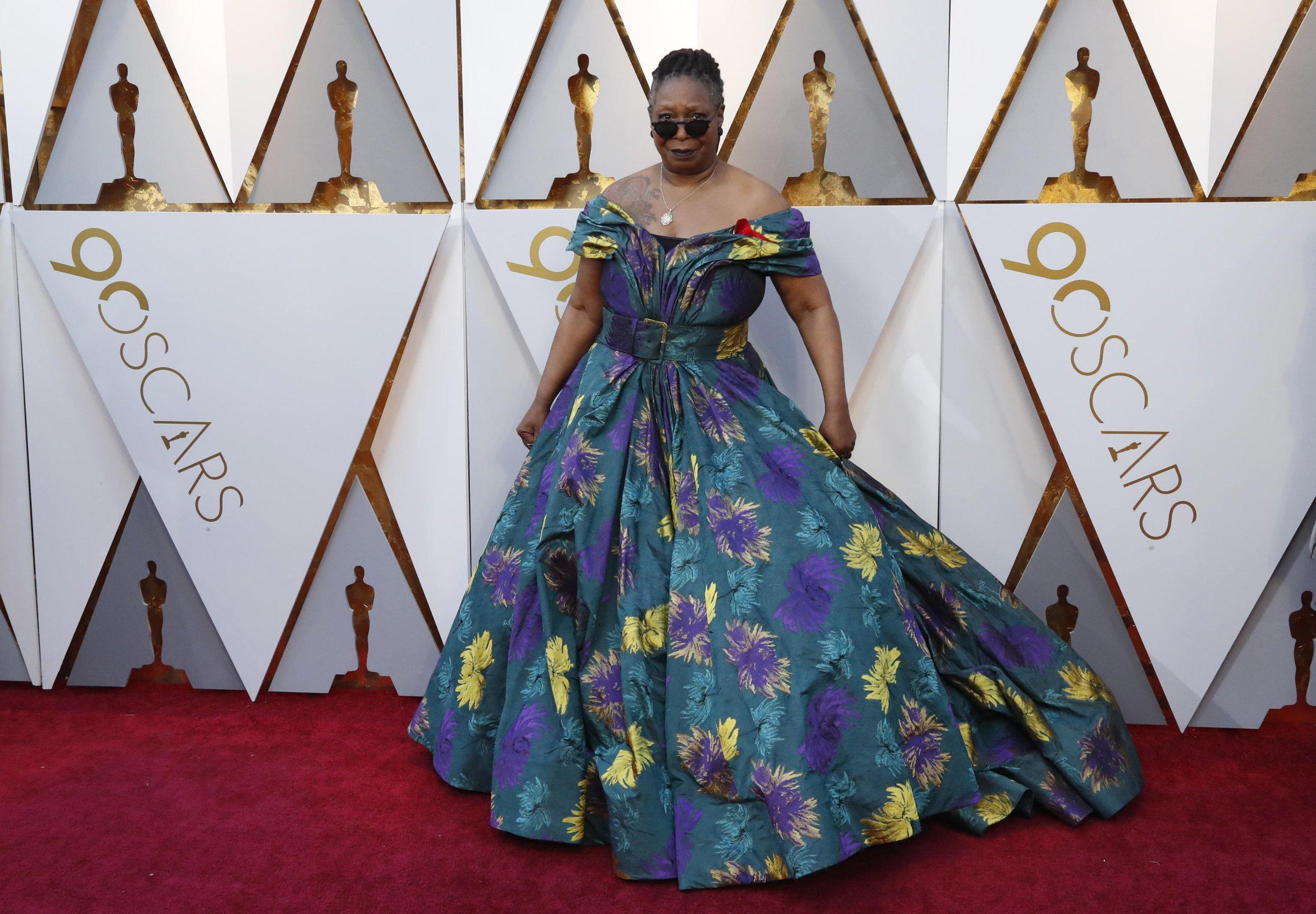 Whoopi Goldberg's floral Christian Siriano Oscars dress has pockets