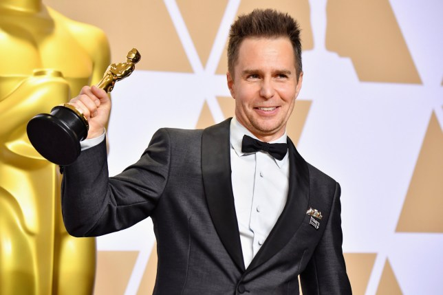 HOLLYWOOD, CA - MARCH 04: Sam Rockwell winner of the Best Supporting Actor for ??Three Billboards Outside Ebbing, Missouri?? poses in the press room during the 90th Annual Academy Awards at Hollywood & Highland Center on March 4, 2018 in Hollywood, California. (Photo by Jeff Kravitz/FilmMagic)