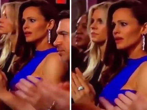 People are trying to guess what freaked out Jennifer Garner at the Oscars