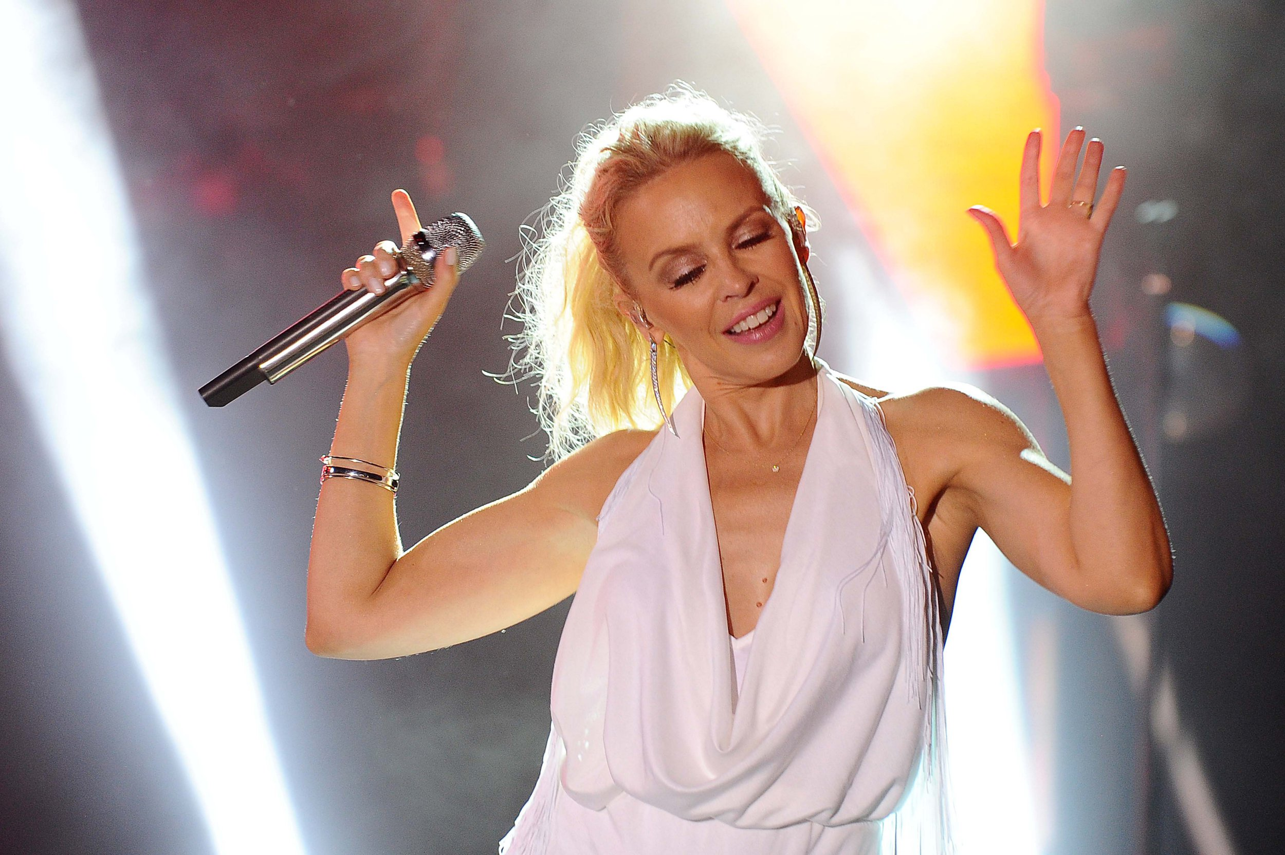 KYLIE MINOGUE - Mandatory Credit: Photo by Frezza Lafata/REX/Shutterstock (5829056i) Kylie Minogue Kylie Minogue in concert at the Hotel Cala Di Volpe, Costa Smeralda, Porto Cervo, Italy - 13 Aug 2016