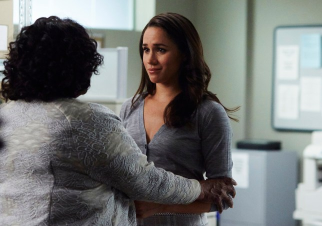 """SUITS -- """"She's Gone"""" Episode 611 -- Pictured: Meghan Markle as Rachel Zane -- (Photo by: Shane Mahood/USA Network/NBCU Photo Bank via Getty Images)"""