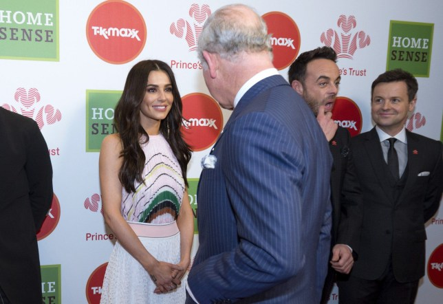 LONDON, ENGLAND - MARCH 6: Prince Charles, Prince of Wales speaks to Celebrity Trust Ambassador Cheryl as Ant and Dec and Olly Murs look on at The Prince's Trust Awards at The London Palladium on March 6, 2018 in London, England. (Photo by Geoff Pugh - WPA Pool/Getty Images)