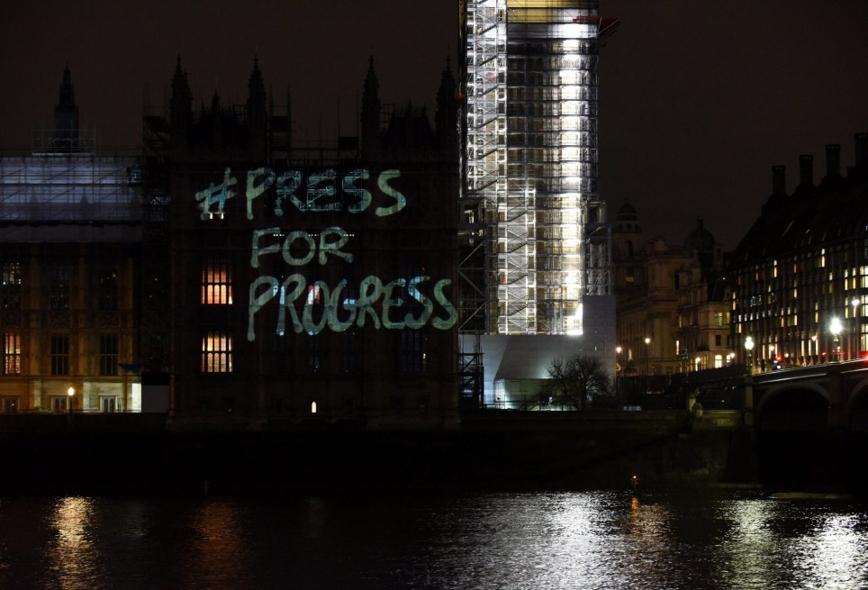 International Women's Day: Powerful messages projected on