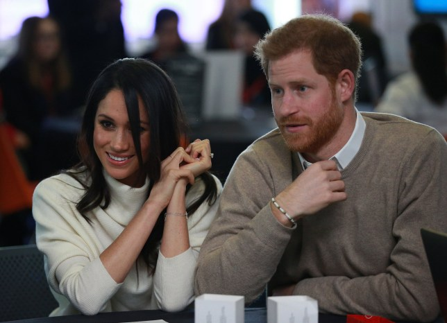 Prince Harry and Meghan Markle take part in an International Women's Day event at Millennium Point in Birmingham, to encourage young women to pursue careers in science, technology, engineering and maths (Stem) subjects. PRESS ASSOCIATION Photo. Picture date: Thursday March 8, 2018. See PA story ROYAL Harry. Photo credit should read: Ian Vogler/Daily Mirror/PA Wire
