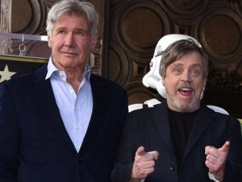 Harrison Ford shouts out Carrie Fisher at Mark Hamill's walk of fame unveiling