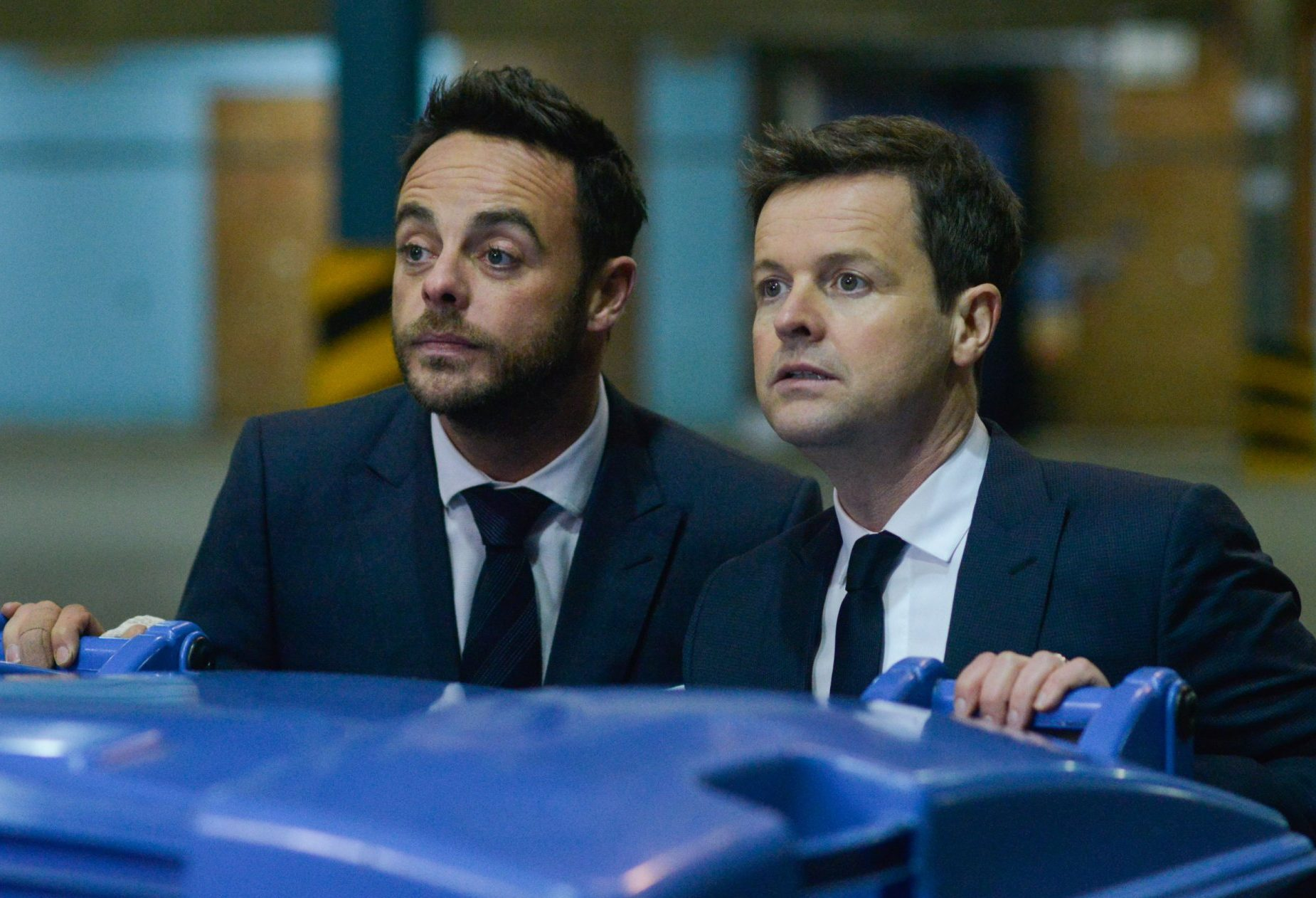 Editorial Use Only. No merchandising Mandatory Credit: Photo by ITV/REX/Shutterstock (9453216i) Saturday Knight Takeaway: Ep2: Anthony McPartlin and Declan Donnelly. 'Ant & Dec's Saturday Night Takeaway' TV Show, Series 15, Episode 3, UK - 10 Mar 2018 Anthony McPartlin and Declan Donnelly's Saturday Night Takeaway, is a British ITV variety show, presented by Anthony McPartlin and Declan Donnelly, both of whom also act as the show's executive producers, and broadcast on ITV since its premiere in 2002.