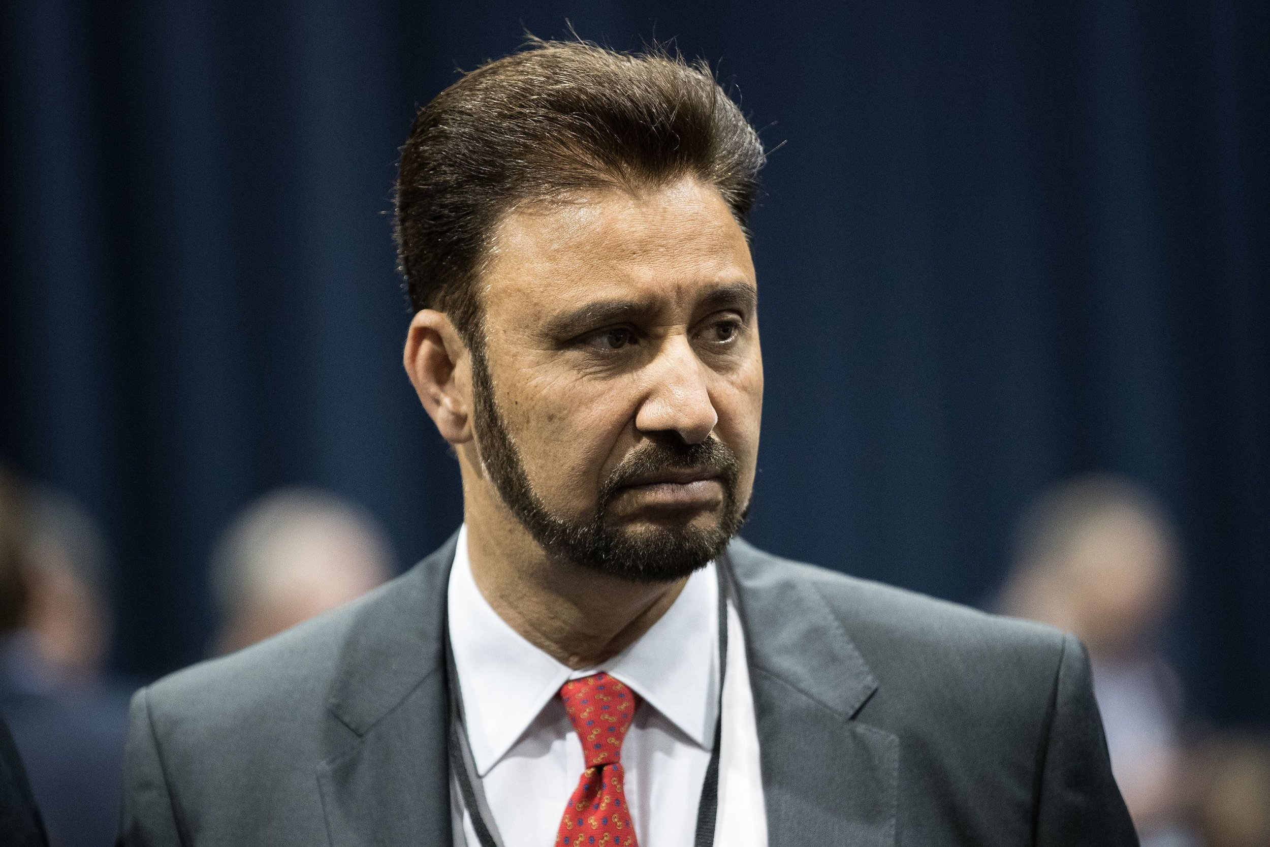 Mandatory Credit: Photo by Joel Goodman/LNP/REX/Shutterstock (8861116s) Afzal Khan of Labour Party at the Manchester Central Convention Centre where the count for the constituencies of Blackley and Broughton, Manchester Central, Manchester Gorton, Manchester Withington and Wythenshawe and Sale East, in the General Election, is taking place. UK General Election, polling day, results, Manchester, UK - 08 Jun 2017