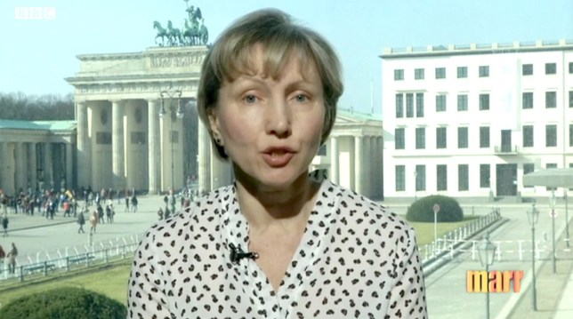 Marina Litvinenko: lessons were not learnt following husbands death despite Theresa May's assurances. Marina Litvinenko appearing on The Andrew Marr Show (Picture: BBC)