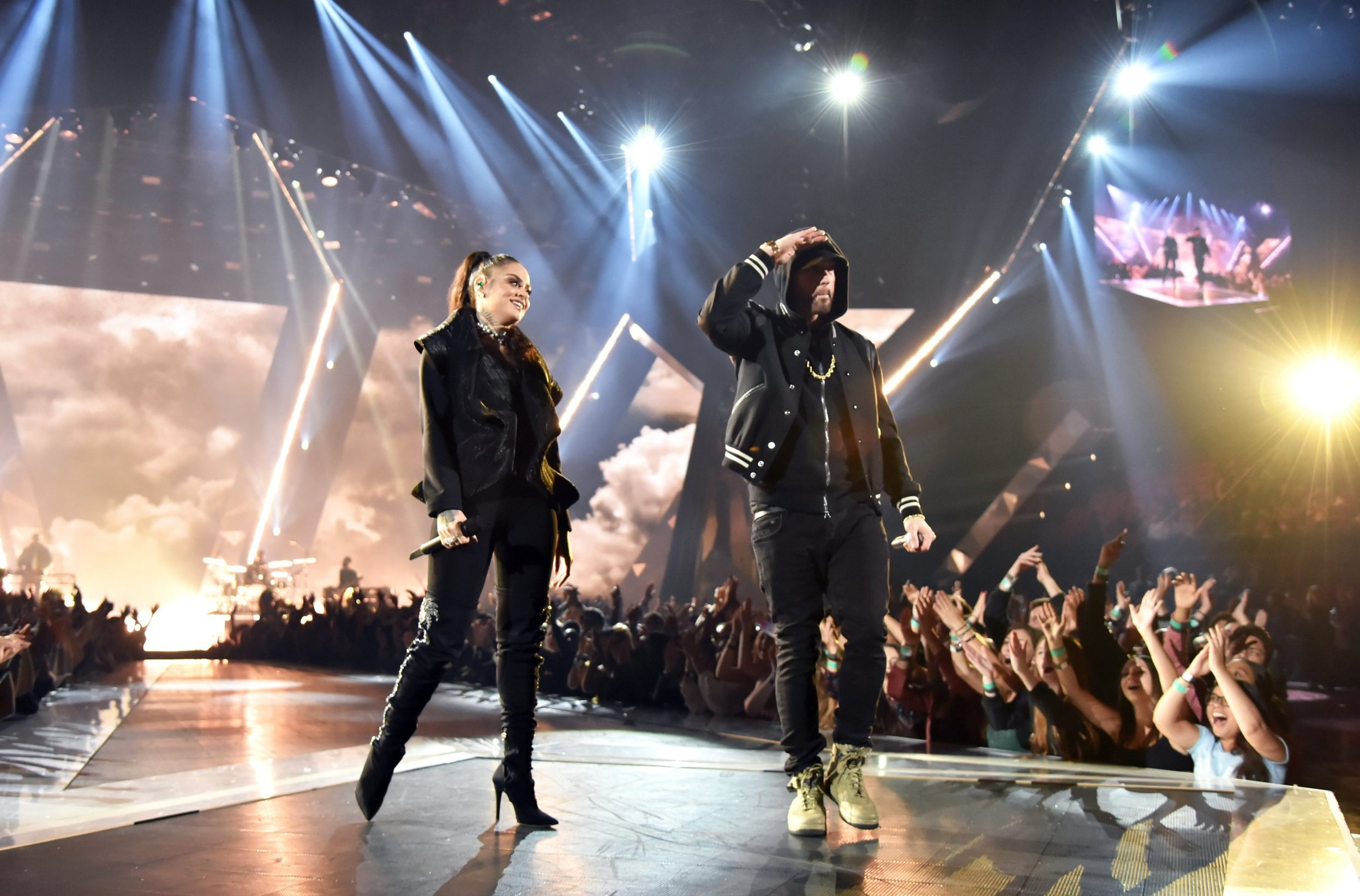Watch Eminem slam the NRA as he duets Nowhere Fast with Kehlani at the iHeart Radio Awards