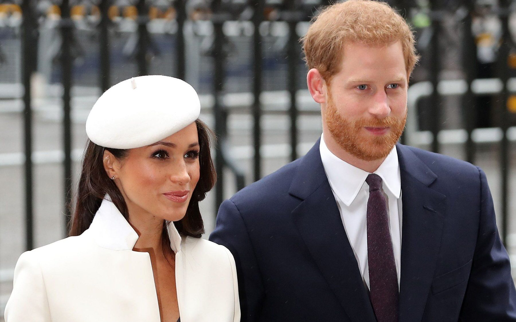 Britain's Prince Harry (R) and his fiancee US actress Meghan Markle attend a Commonwealth Day Service at Westminster Abbey in central London, on March 12, 2018. Britain's Queen Elizabeth II has been the Head of the Commonwealth throughout her reign. Organised by the Royal Commonwealth Society, the Service is the largest annual inter-faith gathering in the United Kingdom. / AFP PHOTO / Daniel LEAL-OLIVASDANIEL LEAL-OLIVAS/AFP/Getty Images