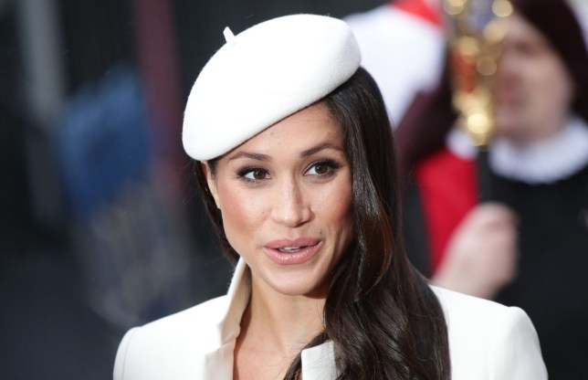 Meghan Markle leaves the Commonwealth Service at Westminster Abbey, London. PRESS ASSOCIATION Photo. Picture date: Monday March 12, 2018. See PA story ROYAL Commonwealth. Photo credit should read: Yui Mok/PA Wire