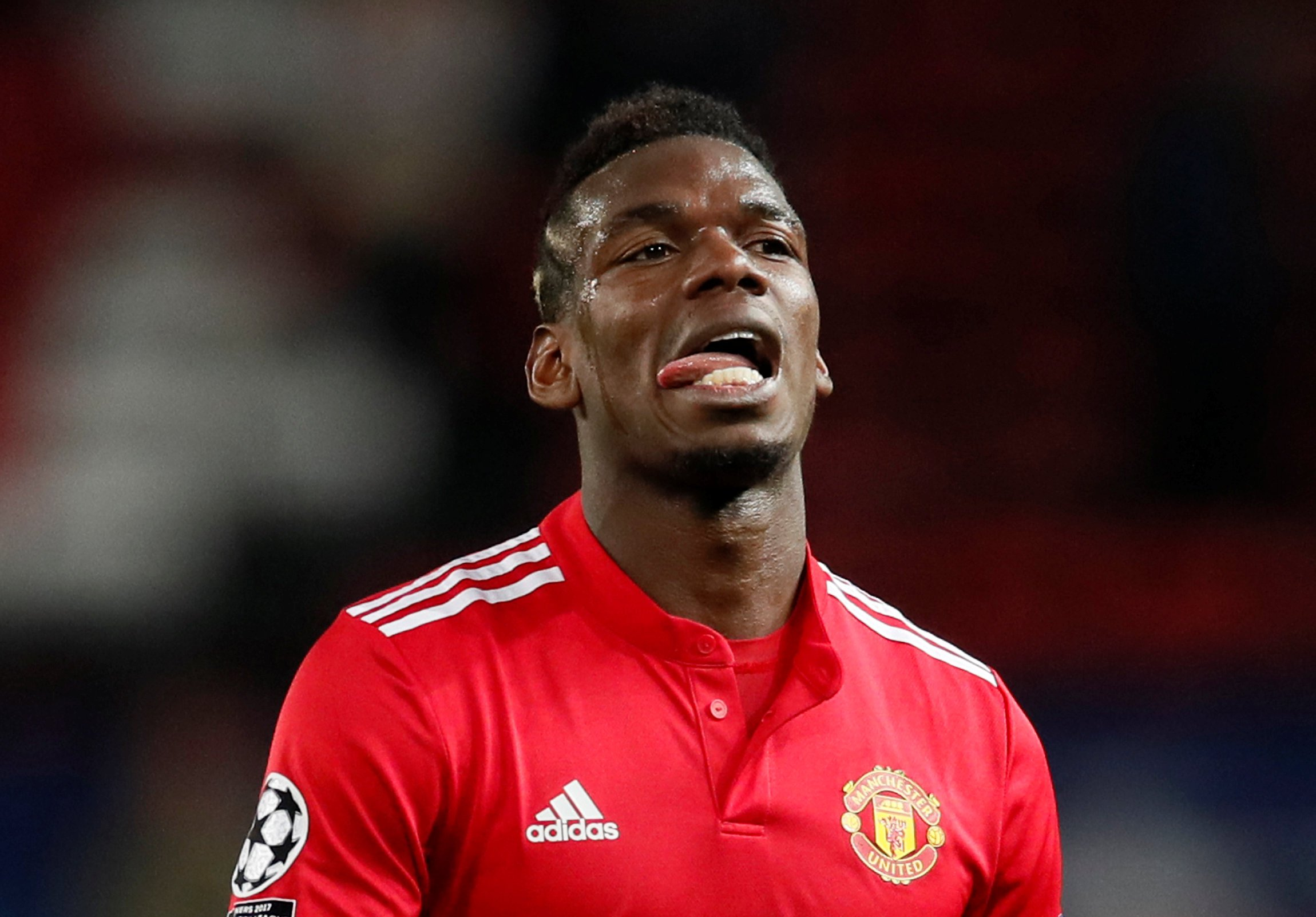 Soccer Football - Champions League Round of 16 Second Leg - Manchester United vs Sevilla - Old Trafford, Manchester, Britain - March 13, 2018 Manchester United's Paul Pogba looks dejected after the match REUTERS/David Klein