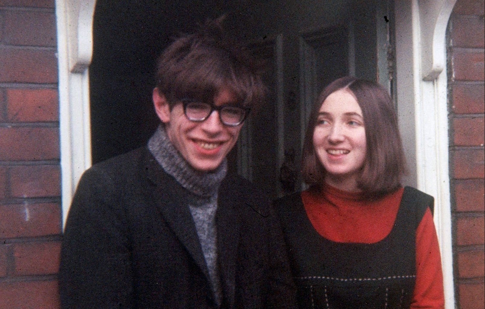 """THE BIOGRAPHY OF JANE HAWKING. She is the former wife of the scientific genius Doctor Stephen Hawking, author of the bestseller """"A Brief History of Time"""". Pic: Jane and Stephen in the 1960's."""