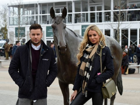 Chris Hughes and Olivia Attwood in awkward reunion at the races