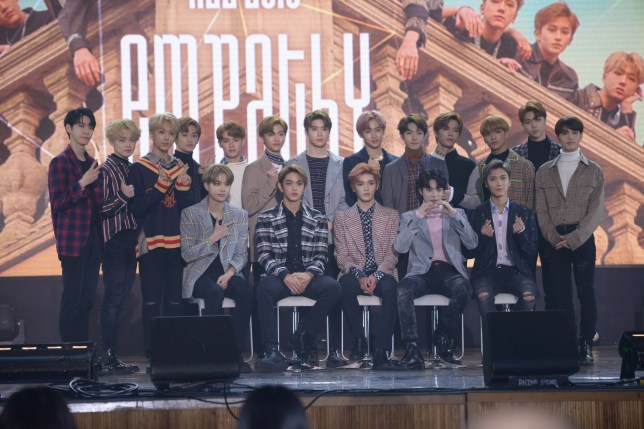NCT promoted their new album NCT 2018 EMPATHY in Seoul, Korea. Pictured: NTC Ref: SPL1672120 140318 Picture by: TPG / Splash News Splash News and Pictures Los Angeles: 310-821-2666 New York: 212-619-2666 London: 870-934-2666 photodesk@splashnews.com