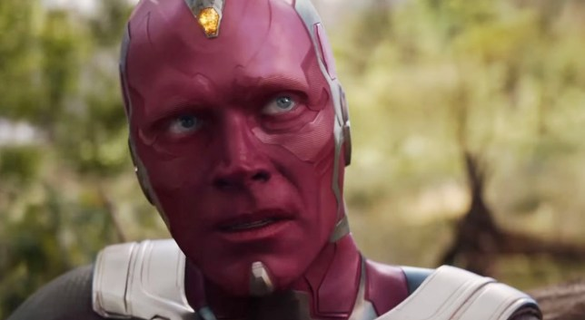 Paul Bettany as Vision in Avengers.