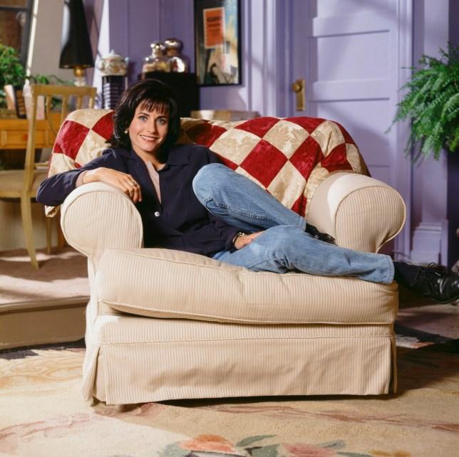 Courteny Cox as Monica Geller in Friends