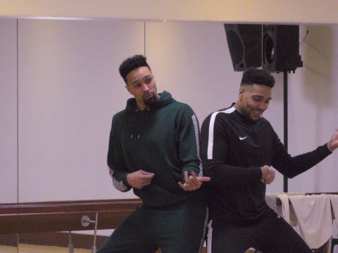 Ashley and Jordan Banjo end up doing the robot in wacky Saturday Night Takeaway stunt
