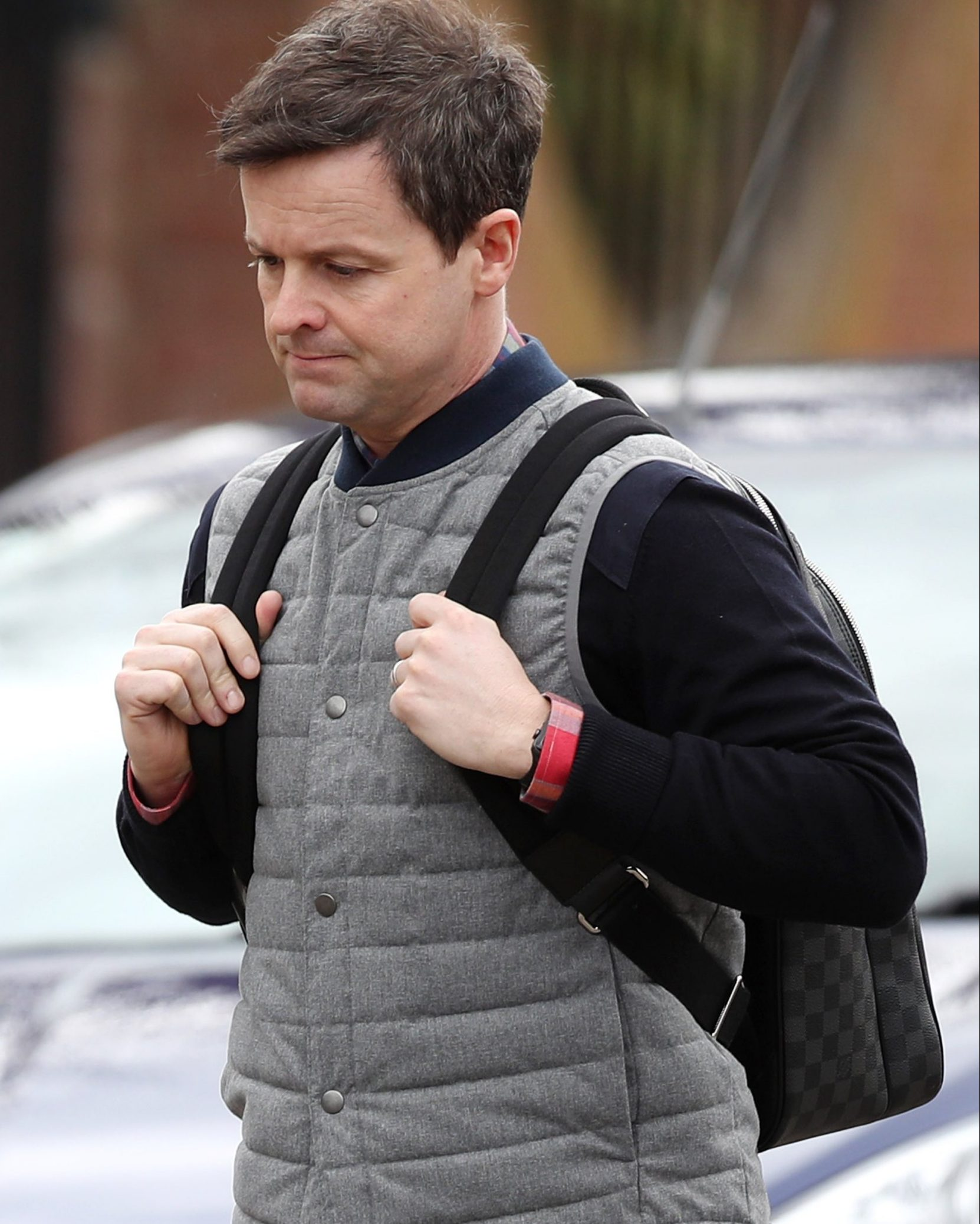 Picture Shows: Declan Donnelly March 20, 2018 * Min Web / Online Fee ?400 For Set * One half of Ant & Dec, Declan Donnelly and his wife Ali Astall are seen out and about in Chiswick in London, England, UK. Sources report Declan is devastated about recent events concerning his comedy partner Ant McPartlin. * Min Web / Online Fee ?400 For Set * Exclusive Worldwide Rights Pictures by : Flynet Pictures ? 2018 Tel : +44 (0)20 3551 5049 Email : info@flynetpictures.co.uk